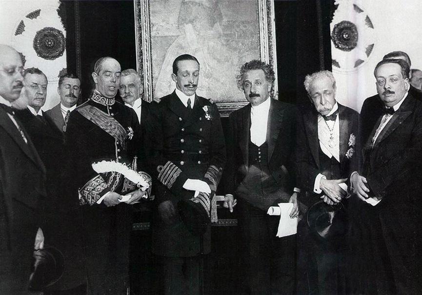 Albert Einstein in the Royal Academy of Sciences, 1923