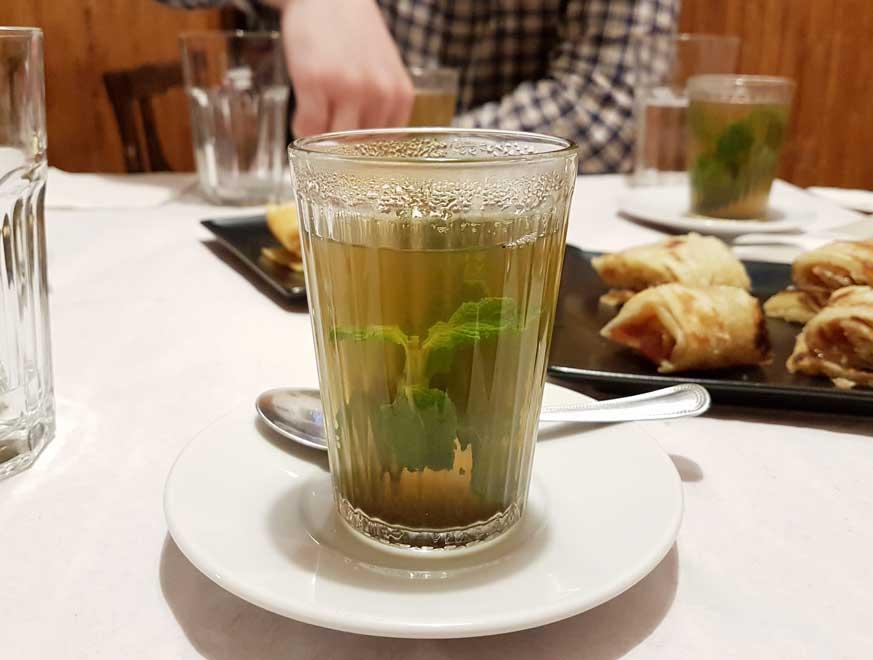 A light mint tea