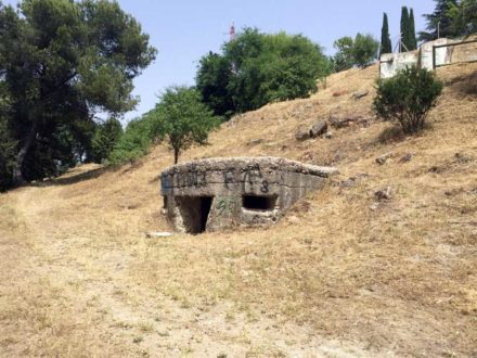 A bunker from the Spanish Civil War