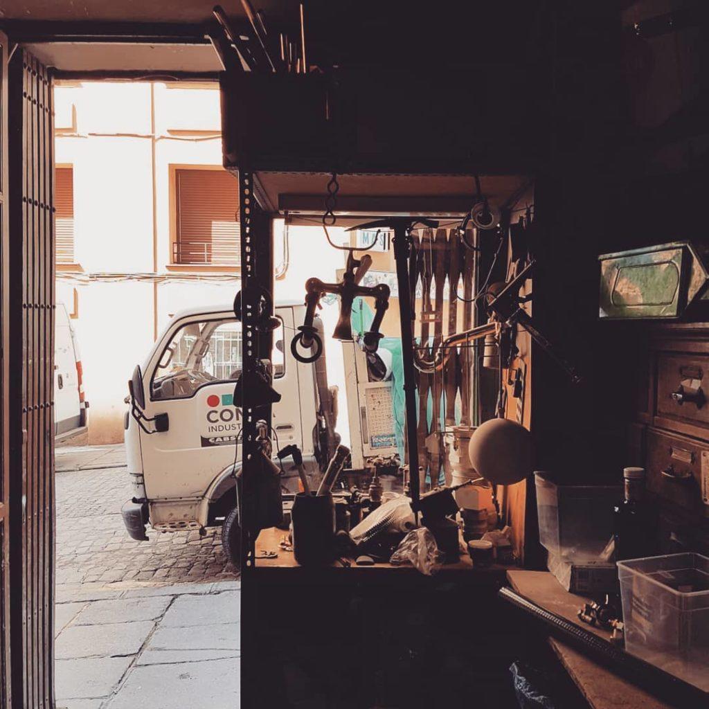 Inside the old plumber's