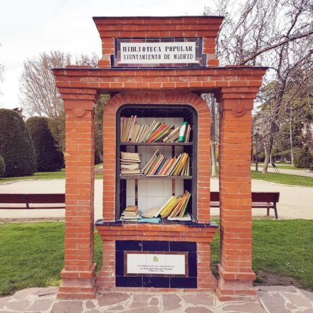 The old book-swapping kiosk