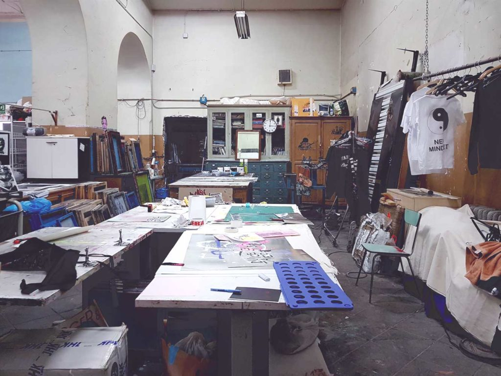 First floor art studios