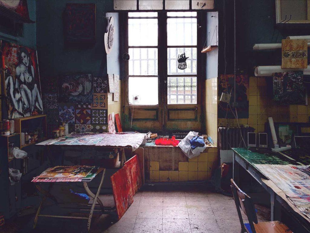 First floor art studios
