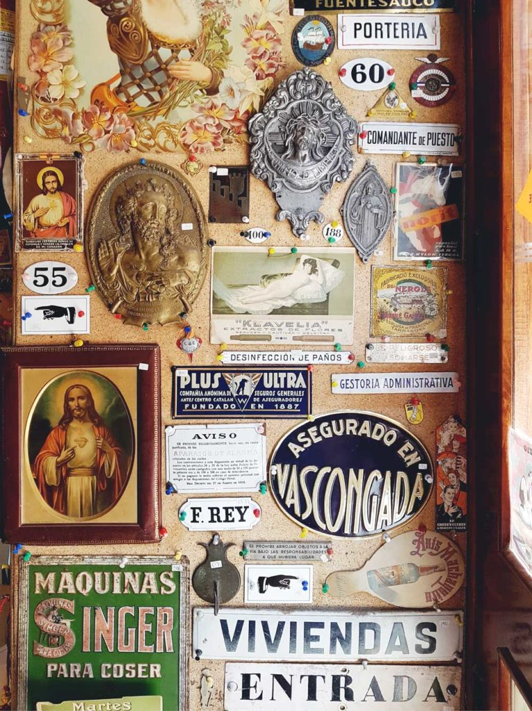 Plaques and vintage signs