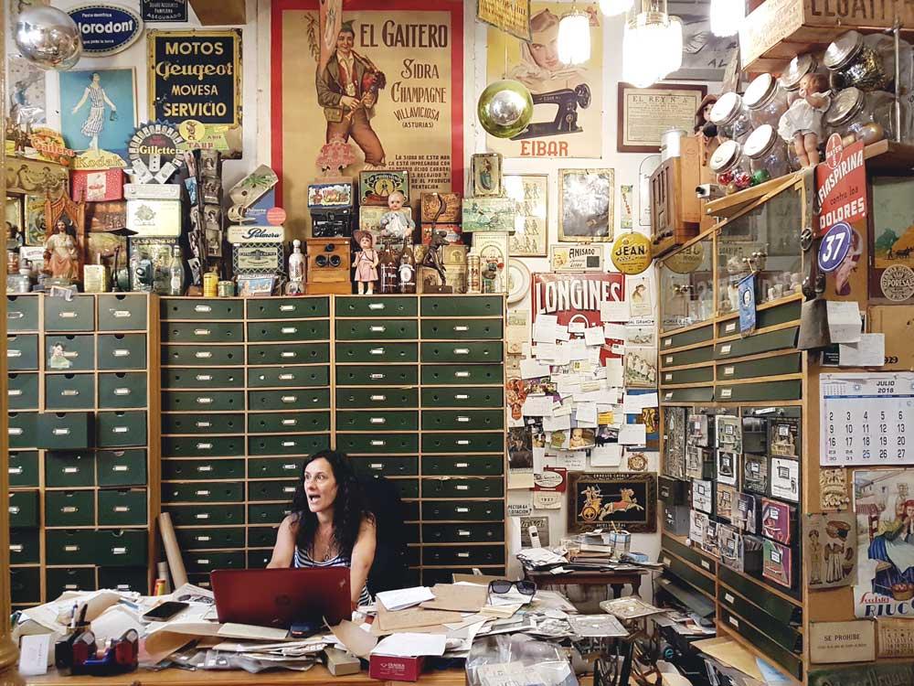 Belén in her cabinet of curiosities