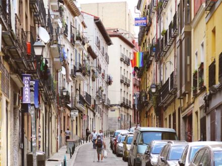 The sloping streets of Lavapiés