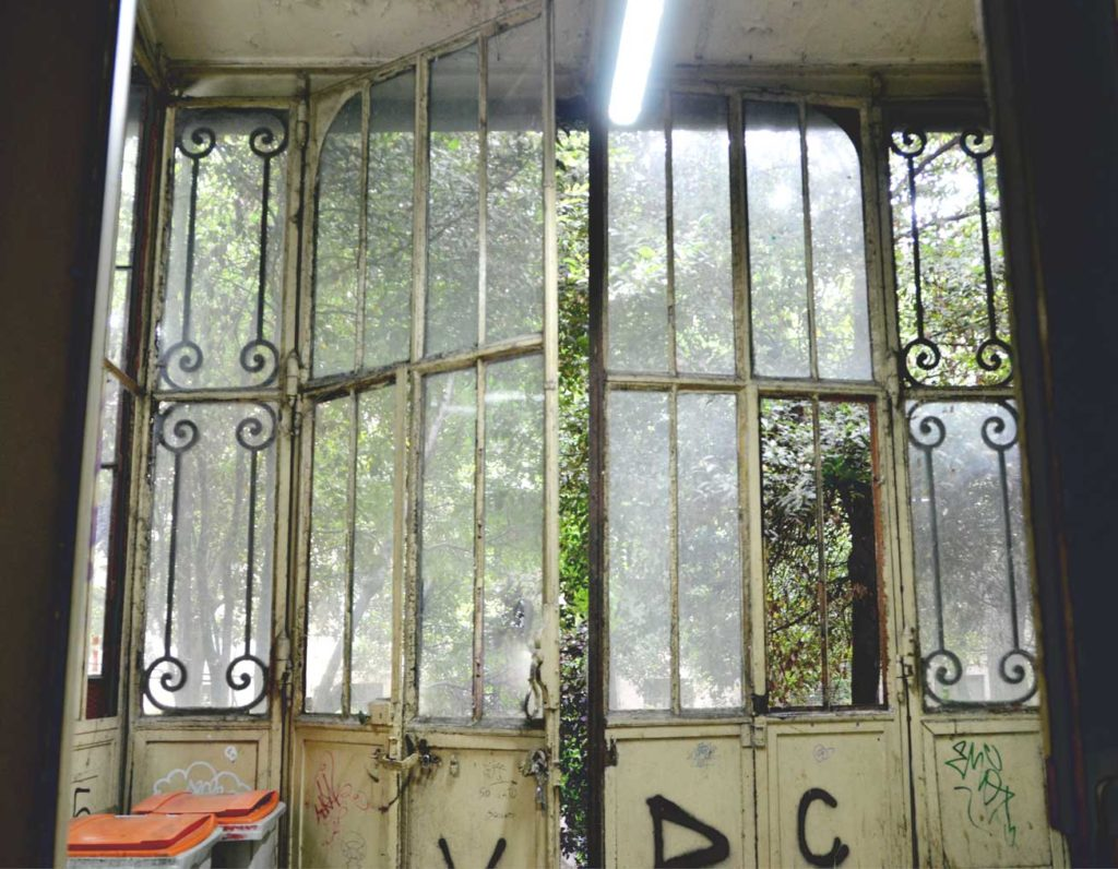 Art Deco doors to the secret garden