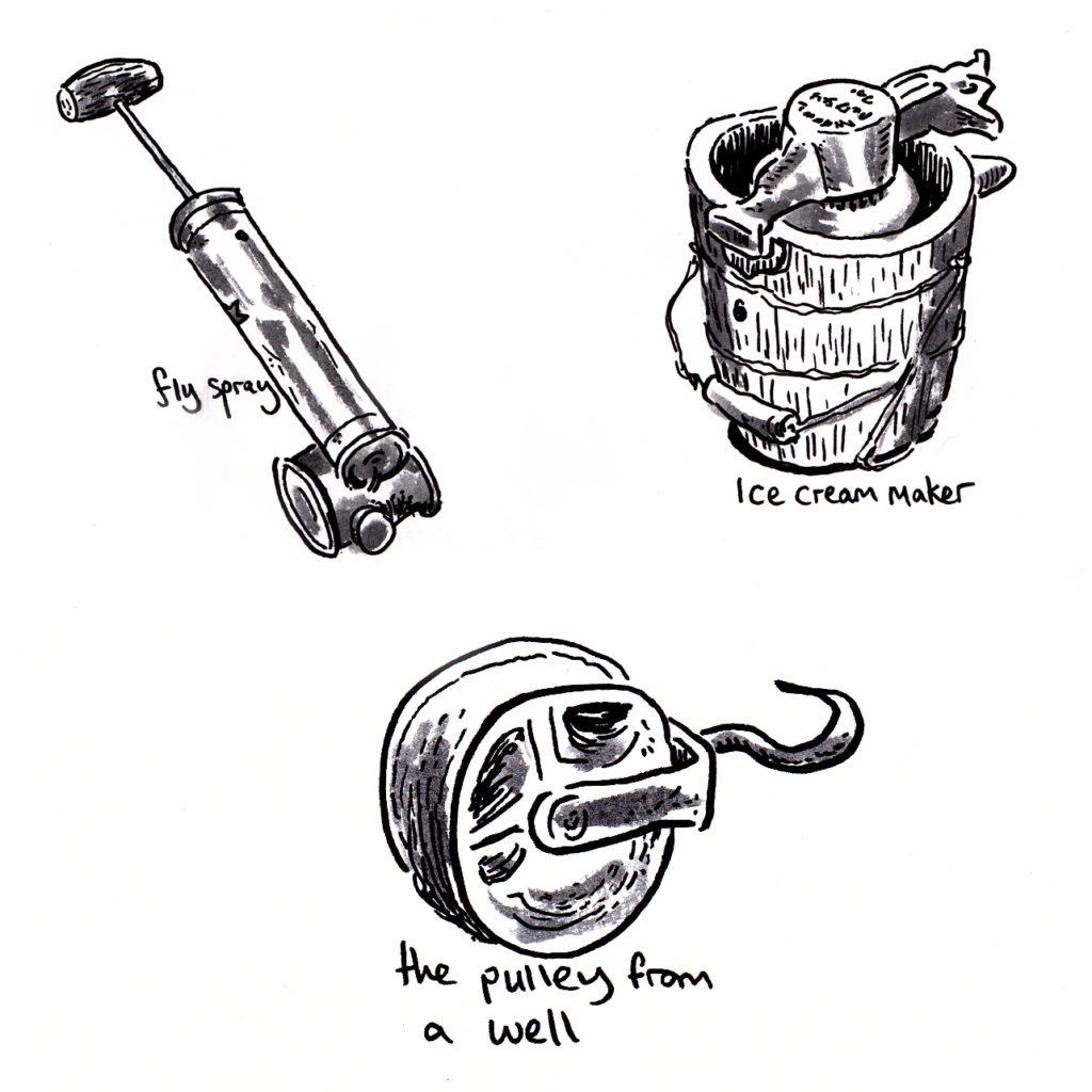 Objects in Mecedora