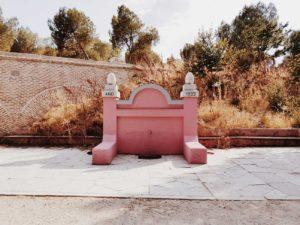 The pink fountain in Casa de Campo