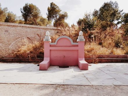 The pink fountain in Casa de Campo