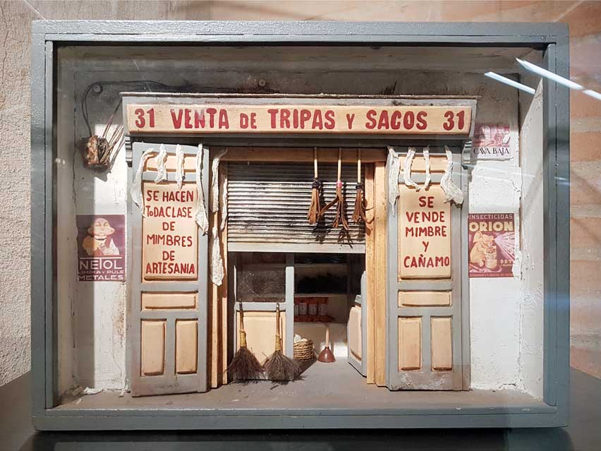 A 3D model of an old bag, wicker and hemp shop on Cava Baja