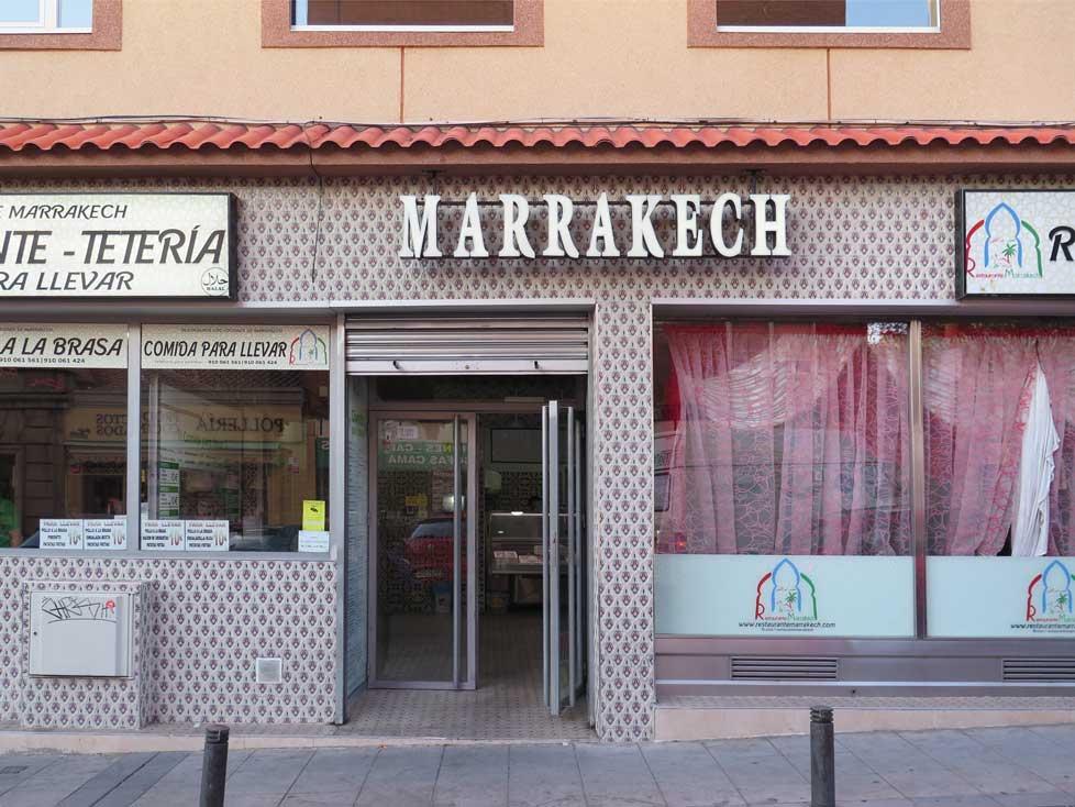 The facade of Marrakech