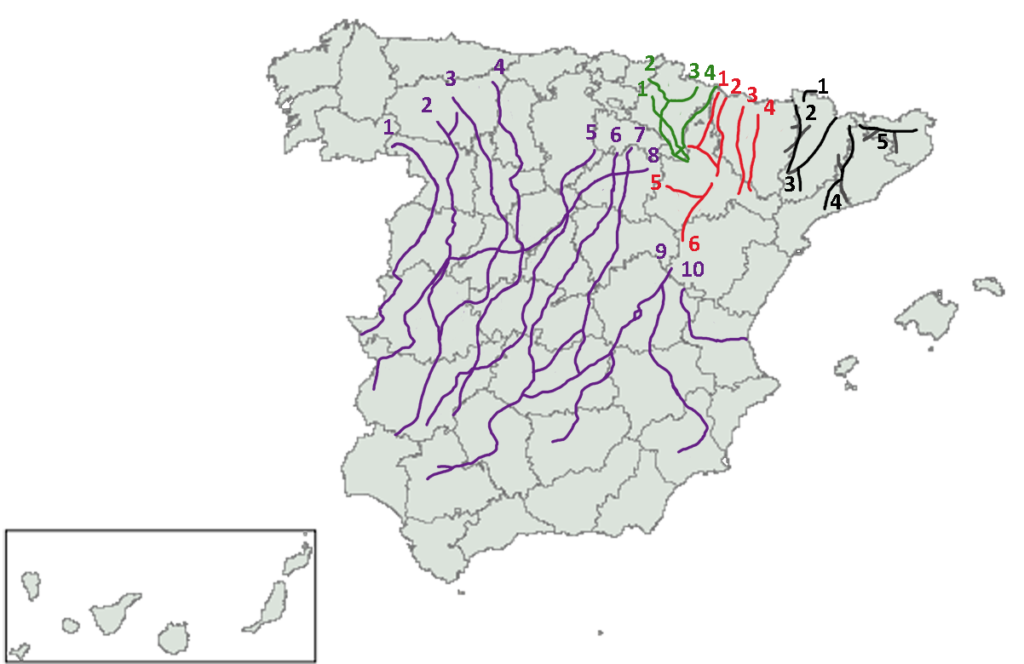 Spain's major transhumancia routes