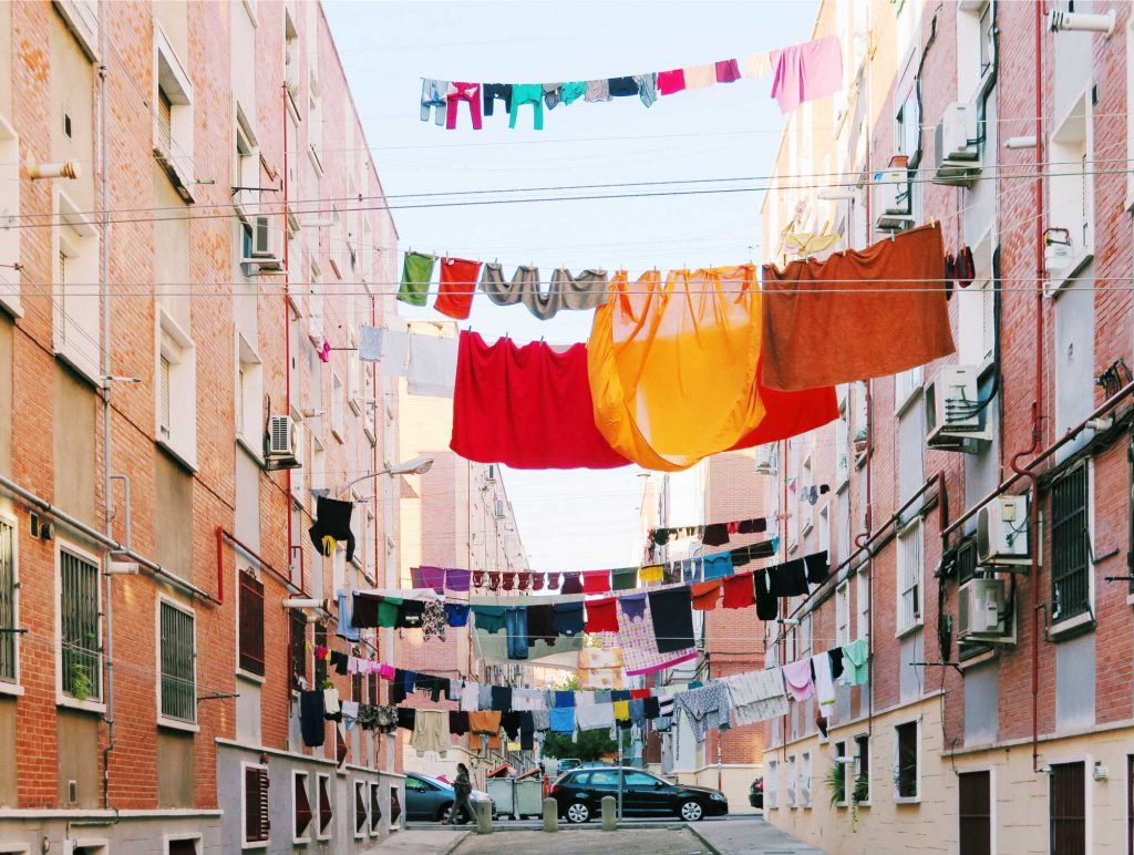 Hanging washing in Vallecas