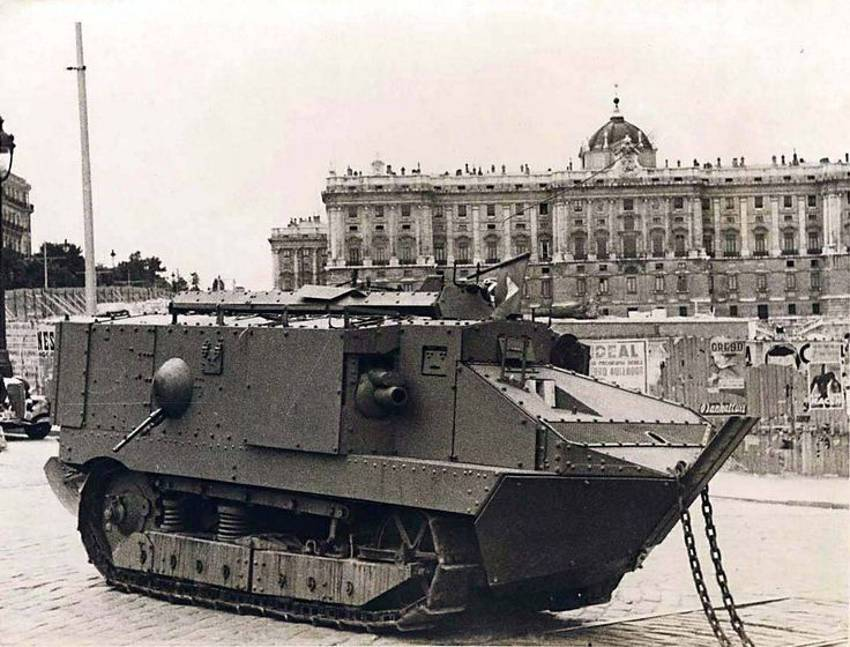 A tank by the palace