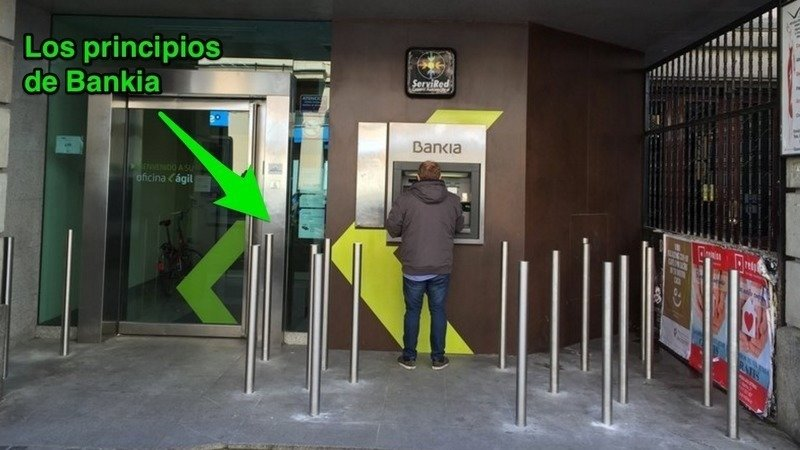 Bankia's earlier hostile bollards