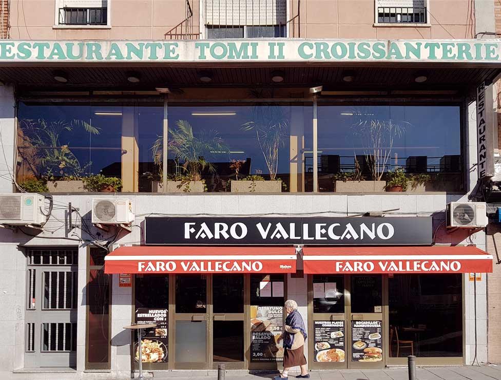 Faro Vallecano's facade