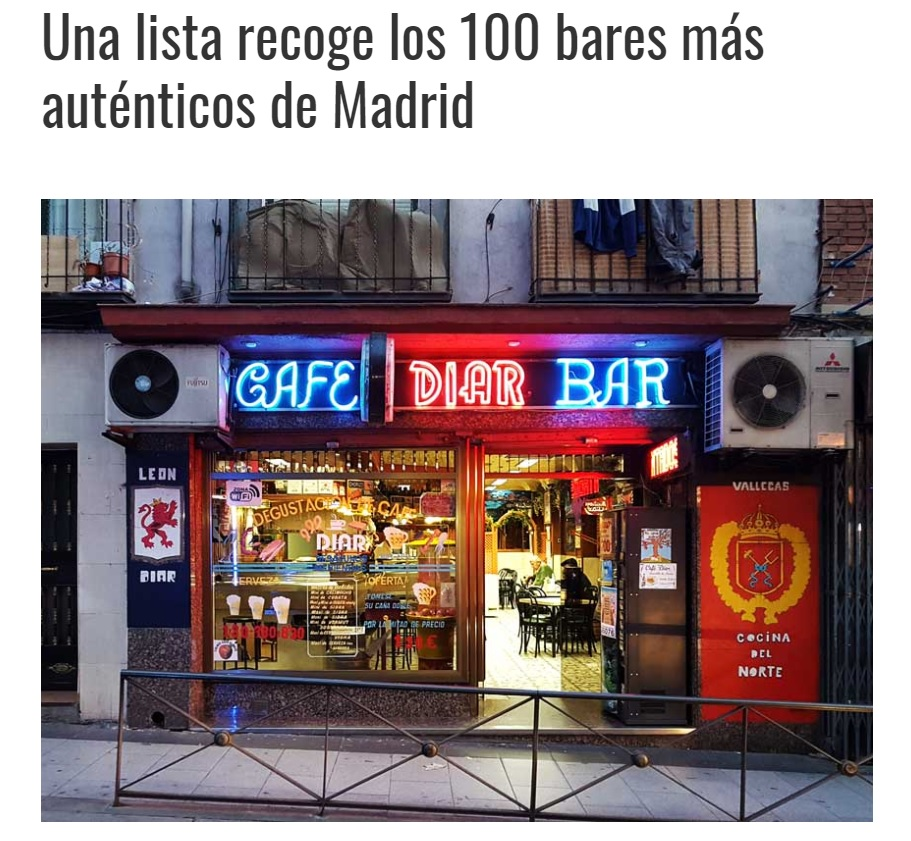 Our 100 Bars collection was featured on Madrid Secreto