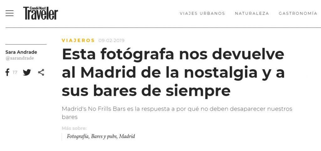 Interview by Condé Nast Traveler España